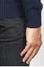 SBU 00953 ブルーカシミアのクラシックなタートルネックのセーター 06