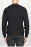 SBU 00954 ブラックカシミアブレンドのクラシッククルーネックセーター 04