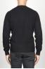 SBU 00954 Suéter clásico de cuello redondo en mezcla de cachemir negro 04