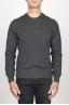 SBU 00955 Classic crew neck sweater in grey cashmere blend 01