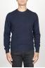 SBU 00956 Classic crew neck sweater in blue cashmere blend 01