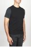 SBU 00957 Chaleco clásico de cuello redondo en mezcla de cachemir negro 02
