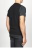 SBU 00957 Chaleco clásico de cuello redondo en mezcla de cachemir negro 04