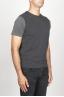 SBU 00958 Gilet girocollo classico in maglia di misto cashmere grigio 02
