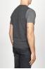 SBU 00958 Gilet girocollo classico in maglia di misto cashmere grigio 04