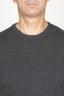 SBU 00958 Gilet girocollo classico in maglia di misto cashmere grigio 06