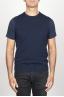 SBU 00959 Classic round neck cashmere blend blue sleeveless sweater vest 01