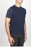 SBU 00959 Gilet girocollo classico in maglia di misto cashmere blu 02