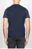 SBU 00959 Gilet girocollo classico in maglia di misto cashmere blu 05