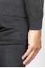 SBU 00961 Pullover giro collo a taglio vivo grigio in lana merino 06