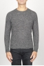 SBU 00964 Classic crew neck sweater in grey alpaca blend 01