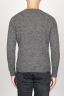 SBU 00964 Classic crew neck sweater in grey alpaca blend 04