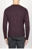 SBU 00965 Classic crew neck sweater in red alpaca blend 04