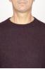 SBU 00965 Classic crew neck sweater in red alpaca blend 05