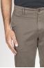 SBU 00967 Classique pantalon chinois en coton marron élastique 06