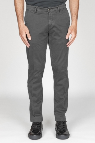SBU 00968 Pantaloni chino classici in cotone stretch grigio 01