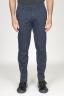 SBU 00969 Clásico pantalón chino en algodón elástico azul marino 01