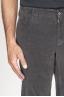 SBU 00972 Pantaloni chino classici in velluto stretch mille righe grigio 06