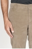 SBU 00973 Classique pantalon chinois en velour de coton beige élastique 06