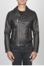 SBU 00446 Classic motorcycle jacket in black calf-skin leather 01