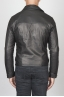 SBU 00446 Classic motorcycle jacket in black calf-skin leather 04