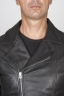 SBU 00446 Classic motorcycle jacket in black calf-skin leather 05