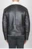 SBU 00447 Classic motorcycle jacket in black sheepskin leather 04