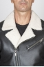 SBU 00447 Classic motorcycle jacket nera in montone 05