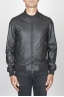 SBU 00448 Classic flight jacket nera in pelle di vitello 01