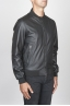 SBU 00448 Classic flight jacket in black calf-skin leather 02