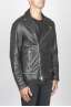 SBU 00449 Classic biker jacket in black calf-skin leather 02
