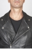 SBU 00449 Classic biker jacket in black calf-skin leather 05