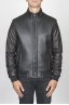 SBU 00450 Classic flight jacket nera in montone di agnello 01