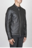 SBU 00451 Classic biker jacket in black calf-skin leather 02