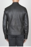 SBU 00451 Classic biker jacket in black calf-skin leather 04