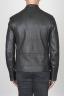 SBU 00451 Classic biker jacket nera in pelle di vitello 04