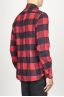 SBU 00981 Clásica camisa roja y negra de cuadros de algodón con cuello de punta  03