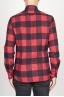 SBU 00981 Camicia classica collo a punta in cotone a scacchi rossa e nera 04
