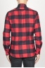 SBU 00981 Clásica camisa roja y negra de cuadros de algodón con cuello de punta  04