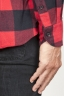 SBU 00981 Classic point collar red and black checkered cotton shirt 06