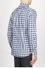 SBU 00982 Classic point collar white and black checkered cotton shirt 03