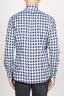 SBU 00982 Clásica camisa blanca y negra de cuadros de algodón con cuello de punta  04
