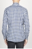 SBU 00982 Classic point collar white and black checkered cotton shirt 04