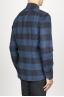 SBU 00983 Clásica camisa azul y negra de cuadros de algodón con cuello de punta  03