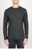 SBU 00984 Camiseta negra clásica de manga larga de algodón en cuello redondo 01
