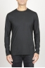 SBU 00984 Classic long sleeve cotton round neck black t-shirt 01