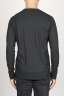 SBU 00984 Classic long sleeve cotton round neck black t-shirt 04