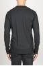SBU 00984 T-shirt classique noire à mange long de coton à col rond 04