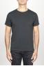 SBU 00987 Clásica camiseta de algodón negra de cuello redondo amplio y manga corta 01