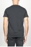 SBU 00987 T-shirt girocollo aperto a maniche corte in cotone nera 05